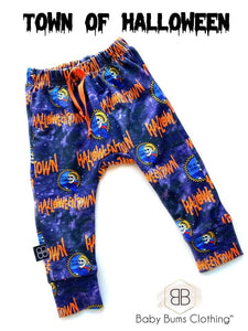 RTS TOWN OF HALLOWEEN POCKET SWEAT PANTS - Baby Bums Clothing