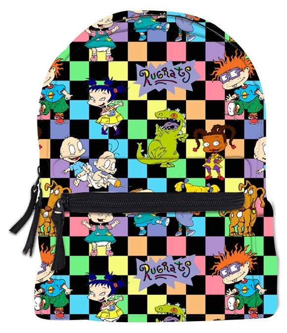 RTS MINI BACKPACK BABIES ON RAINBOW CHECKERED - Baby Bums Clothing