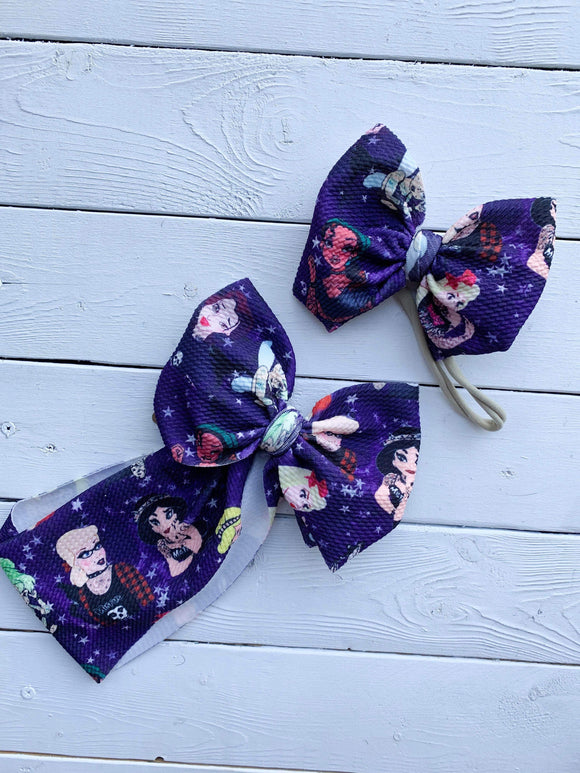 RTS TATTOOED PRINCESS ON PURPLE BOW - Baby Bums Clothing