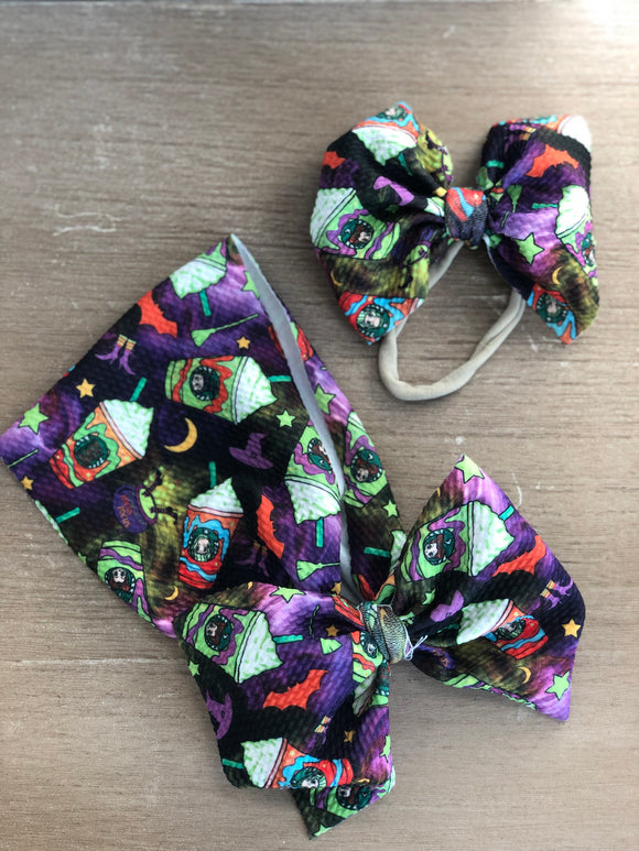 RTS WITCH FRAPPE BOW - Baby Bums Clothing