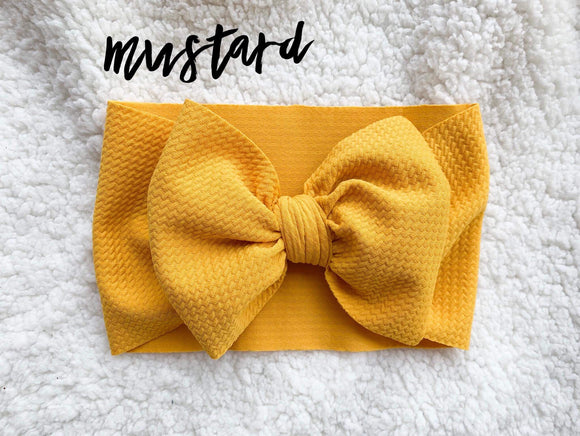 RTS MUSTARD BOW - Baby Bums Clothing