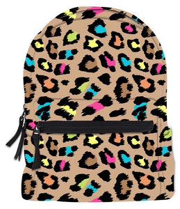 RTS MINI BACKPACK NEON LEOPARD - Baby Bums Clothing