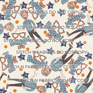 PREORDER MUTED BLUE ORANGE GUY - Baby Bums Clothing
