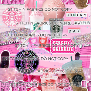 PRE-ORDER PINK COFFEE COLLAGE - Baby Bums Clothing