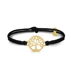 Tree Of Life Gold Onyx Black Bracelet