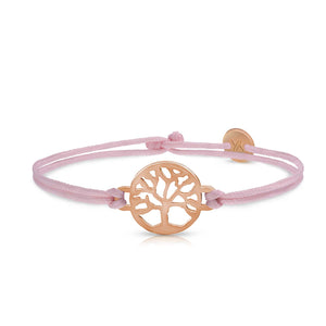 Tree Of Life Rosegold Pink Bracelet