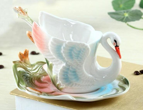 Swan Coffee Mug Set