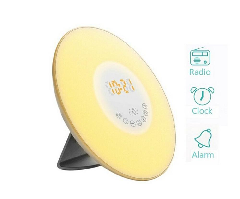 Sunrise Wake Up Alarm Clock With FM Radio