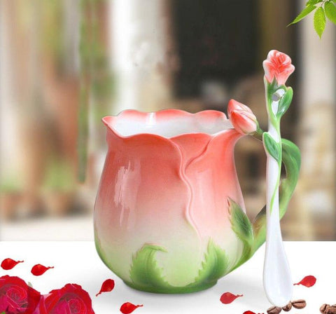 Rose Flower Coffee Mug