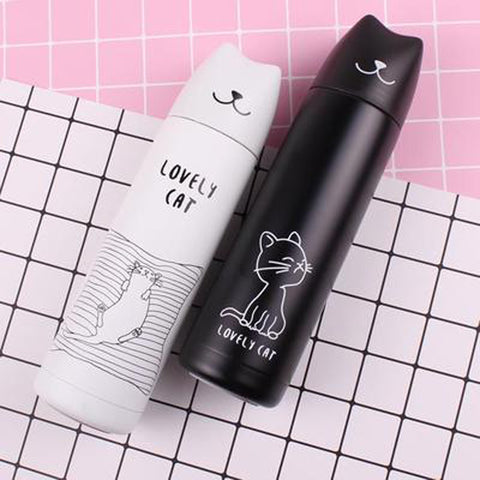 Cute Cat Vacuum Thermal Mug Flask