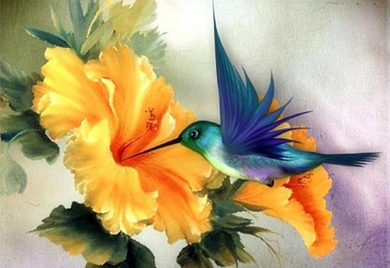Humming Bird Diamond Painting Kit