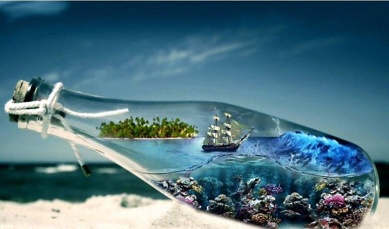 Ship In A Bottle Diamond Painting
