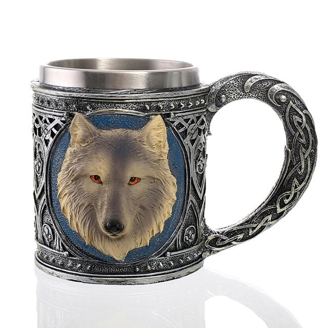 Skull, Dragon, Wolf Coffee / Beer Mug