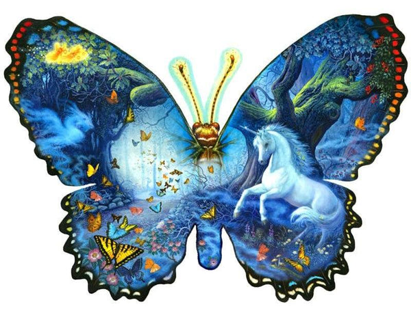 Butterfly And Unicorn Diamond Painting