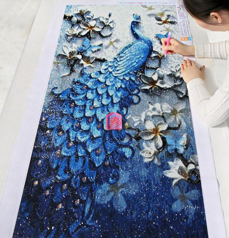 Peacock Diamond Painting Kit