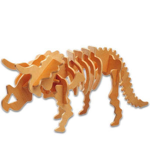 Triceratops Dinosaur 3D Wooden Puzzle