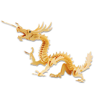 Chinese dragon 3D Wooden Puzzle