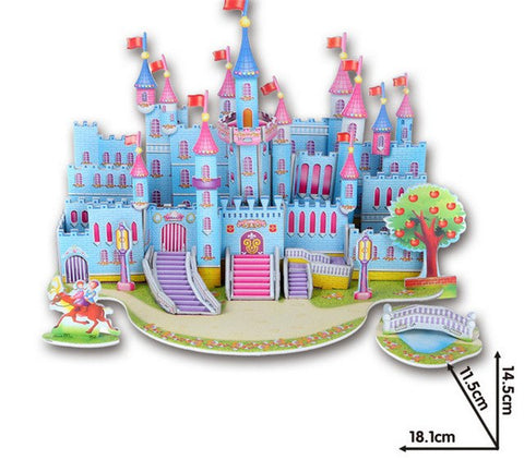Blue Fairy tale Castle 3D Puzzle