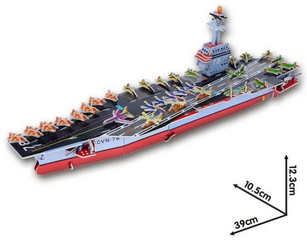 Aircraft Carrier Ship 3D Puzzle