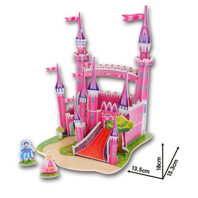 Pink Princess Castle 3D Puzzle