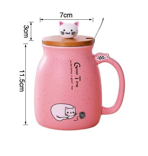 Cat Coffee Mug With Lid