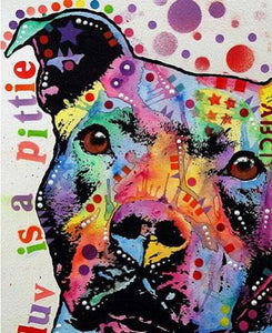 FREE - Colorful Dog Diamond Painting