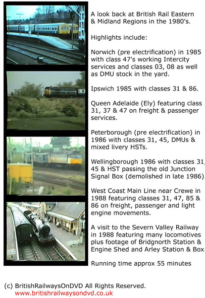 BR in the 1980s: Eastern & Midland Region - Railway DVD