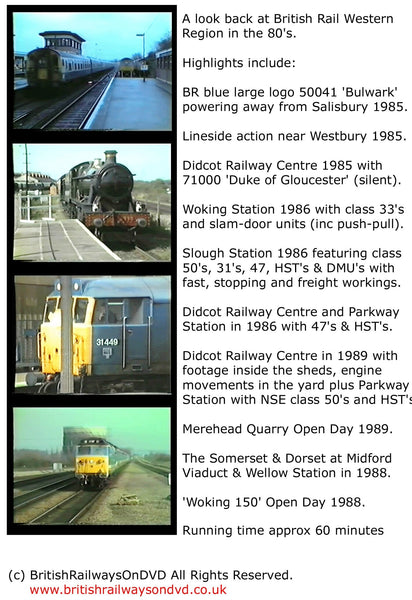 BR in the 1980s: Western Region - Railway DVD