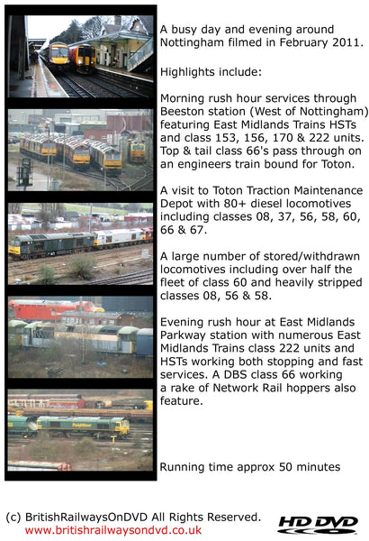 A busy day in Nottingham 2011 - Railway DVD