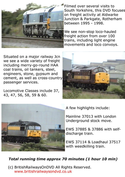 Locomotives in action around Rotherham 1995 - 1998 - Railway DVD