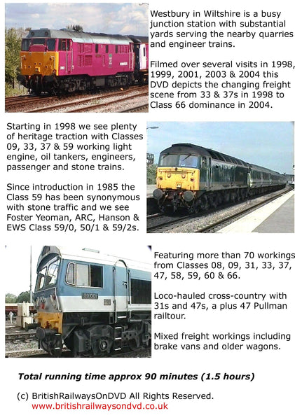 Locomotives in action at Westbury 1998 - 2004 - Railway DVD