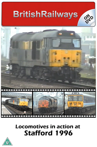 Locomotives in action at Stafford 1996 - Railway DVD