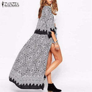 ZANZEA Summer/Fall Loose Long Cardigan Beach Cover-ups - Monetta
