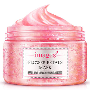 Images Flower Petals Sleeping Anti-aging Night Cream Mask - Monetta