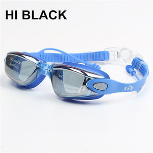 Men /Women Professional Sports Eyewear Silicone Swimming Goggles With Earplug - Monetta