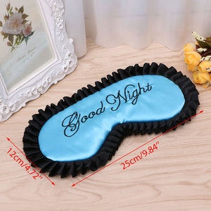 New Comfortable Silk /Satin Sleep Mask Eye Cover Personalized Travel - Monetta