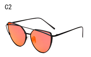 Ladies Alloy Cat Eye Full Frame Sun Glasses - Monetta