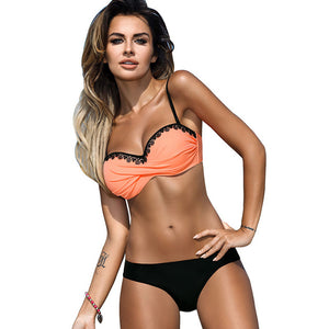 2018 New Minimalism Le Lace Patchwork Bikini Set - Monetta