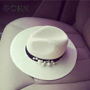 New Flower Beads Summer Hats For Women     (Great Gift) - Monetta