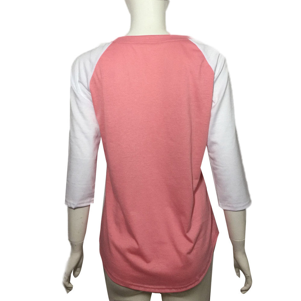 Fashion Women Fall / Spring Casual T-Shirt - Monetta