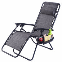 Folding Zero Gravity Outdoor Reclining Lounger & Utility Tray