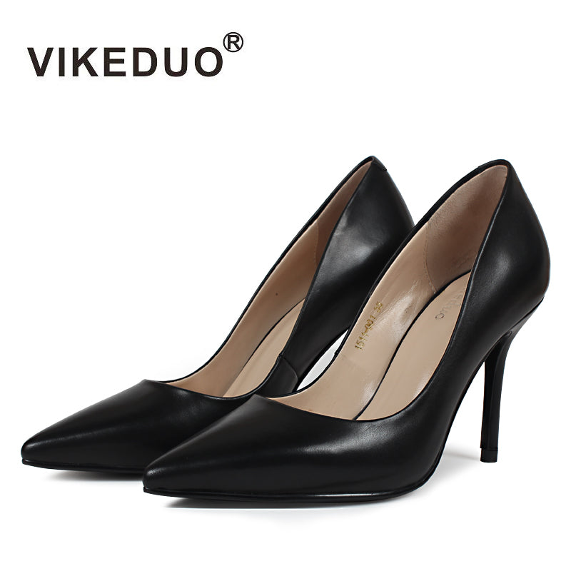 Vikeduo 2018 Handmade Classic Pointed Toe High Thin Heels - Monetta