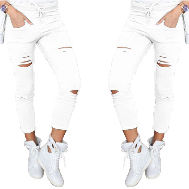 Soild Cotton Fall Fashion Women Sexy Leggings - Monetta