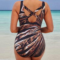 Yazie Backless Digital Ladies Swimsuit