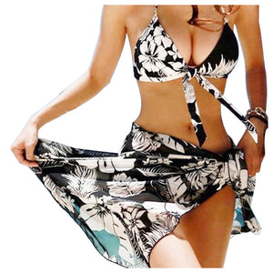 NEW REALTOO Women Bikini Push Up Swimwear And Veil    *3 Pieces - Monetta