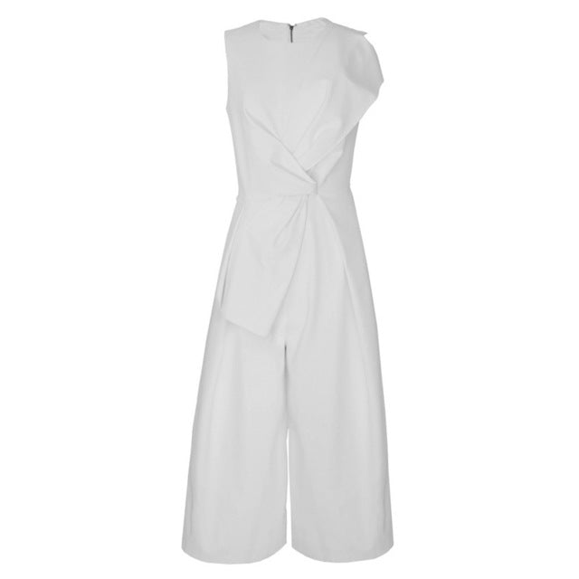 2018 Summer Sleeveless Tunic Wide Leg Jumpsuit - Monetta