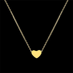 Womens Dainty Heart Pendant Necklaces