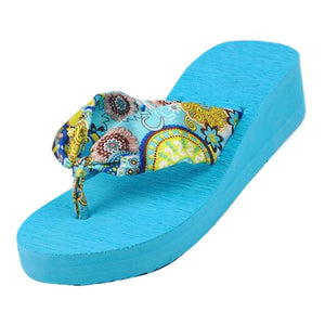 ABDB Women's Summer Bohemia Flower Flip Flops - Monetta