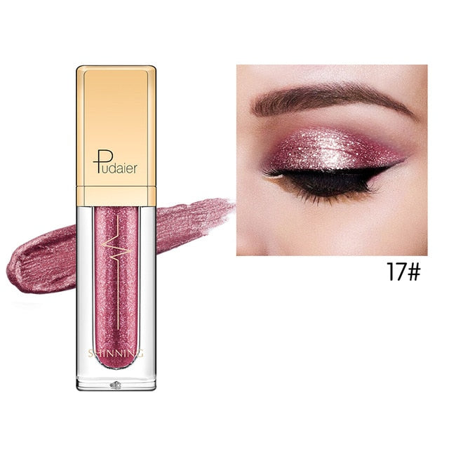 Pudaier Waterproof Diamond Glitter Liquid Eye Shadow & Liner - Monetta