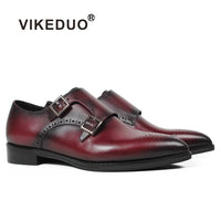 Vikeduo Ladies 2018 New Spring/Fall Fashion Strap Leather Dress Shoes - Monetta